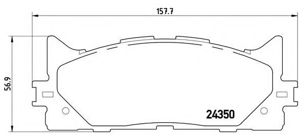 Тормозные колодки  дисковые, к-кт. BREMBO P83117