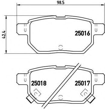 Тормозные колодки  дисковые, к-кт. BREMBO P83133