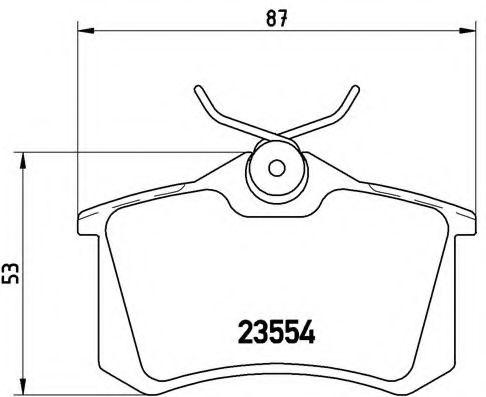Тормозные колодки  дисковые, к-кт. BREMBO P85017