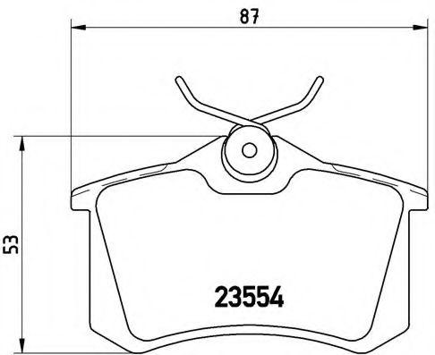 Тормозные колодки  дисковые, к-кт. BREMBO P85020