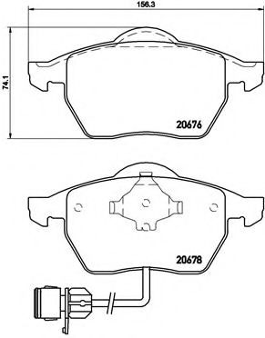 Тормозные колодки  дисковые, к-кт. BREMBO P85026