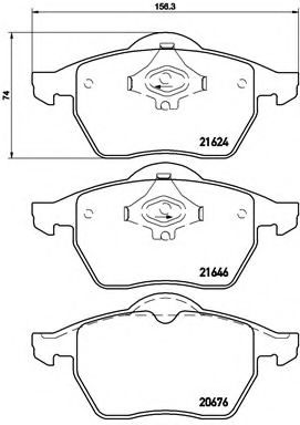 Тормозные колодки  дисковые, к-кт. BREMBO P85036