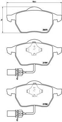 Тормозные колодки  дисковые, к-кт. BREMBO P85037