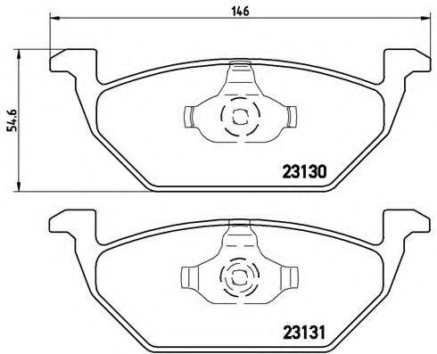 Тормозные колодки  дисковые, к-кт. BREMBO P85041