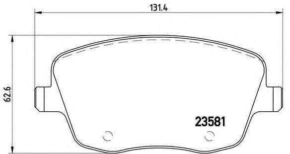 Тормозные колодки  дисковые, к-кт. BREMBO P85057