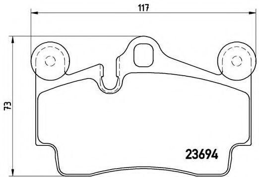 Тормозные колодки  дисковые, к-кт. BREMBO P85070