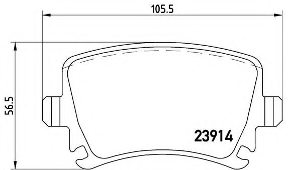 Тормозные колодки  дисковые, к-кт. BREMBO P85073