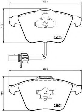 Тормозные колодки  дисковые, к-кт. BREMBO P85084