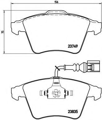 Тормозные колодки  дисковые, к-кт. BREMBO P85090