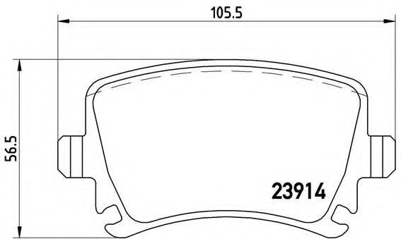Тормозные колодки  дисковые, к-кт. BREMBO P85095