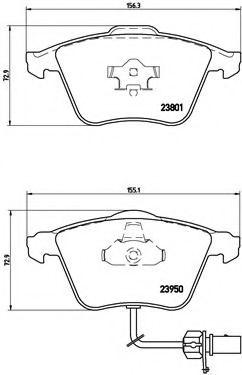 Тормозные колодки  дисковые, к-кт. BREMBO P85097