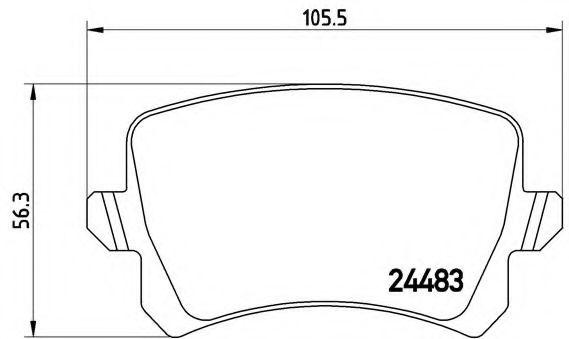 Тормозные колодки  дисковые, к-кт. BREMBO P85109