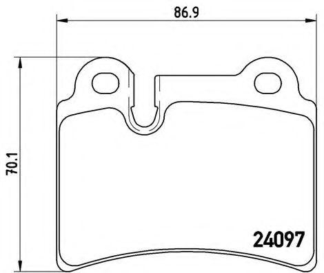 Тормозные колодки  дисковые, к-кт. BREMBO P85111