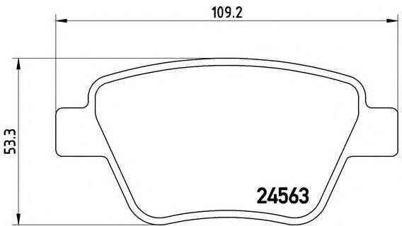 Тормозные колодки  дисковые, к-кт. BREMBO P85114