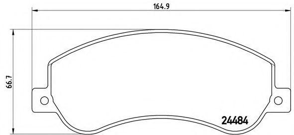 Тормозные колодки  дисковые, к-кт. BREMBO P85115