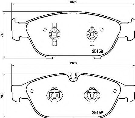 Тормозные колодки  дисковые, к-кт. BREMBO P85127