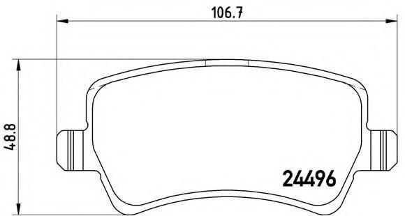 Тормозные колодки  дисковые, к-кт. BREMBO P86021