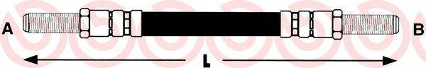 Тормозной шланг  арт. T23074