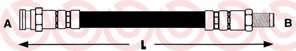 Тормозной шланг  арт. T23141
