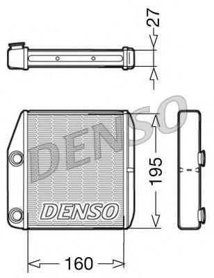 Теплообменник, отопление салона DENSO DRR09075