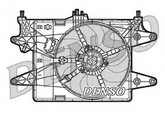 Вентилятор радіатора DENSO DER09081