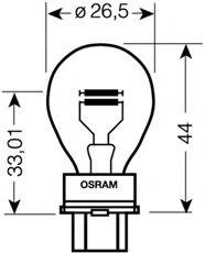 Автолампа Osram (27/7W 12V W2,5x16D)  арт. 3157
