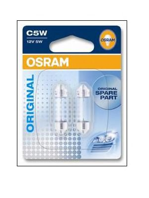 (к/т 2 шт) Автолампа Osram (5W 12V SV8,5-8)  арт. 641802B