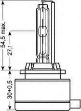 Лампа ксеноновая (35W D1S 4300K)  арт. 66140CLC