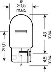 Автолампа Osram (21W 12V W3X16D) OSRAM арт. 7505