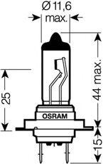 Автолампа Osram (H7 12V 55W)  арт. 64210