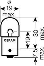 Автолампа Osram (5W 12V BA15s)  арт. 5007