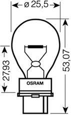 Автолампа Osram (27W 12V W2,5X16D)  арт. 3156