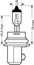 Автолампа Osram (HB5 12V 65/55W PX29T)  арт. 9007