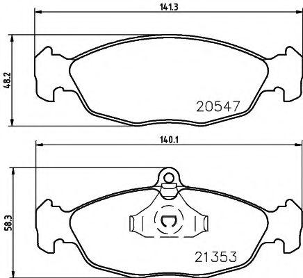 Brake pad set mintex MDB1556