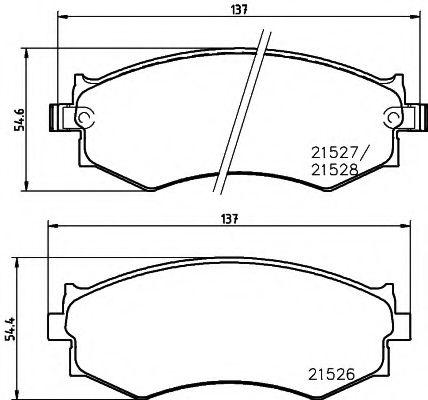 Комплект тормозных колодок, дисковый тормоз  арт. MDB2351