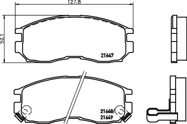 MINTEX  MITSUBISHI Тормозные колодки передн. Colt, Galant, Lancer,Space MINTEX MDB1509