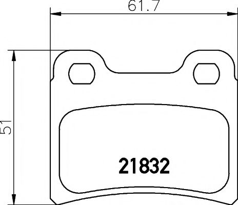 MINTEX  FORD Тормозные колодки задние ESCORT 90- MINTEX MDB1554