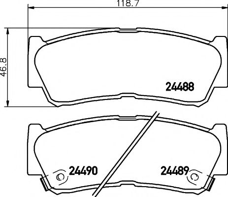 MINTEX  HYUNDAI Тормозные колодки задн.дисковые Santa Fe 06- Rodius MINTEX MDB2855