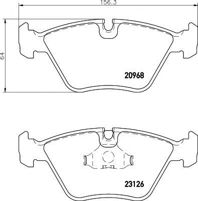 Комплект тормозных колодок, дисковый тормоз  арт. MDB1516