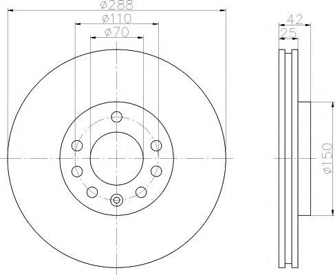 Тормозной диск  арт. MDC1009