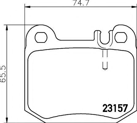 MINTEX  Тормозные колодки зад. DB ML163 MINTEX MDB2112
