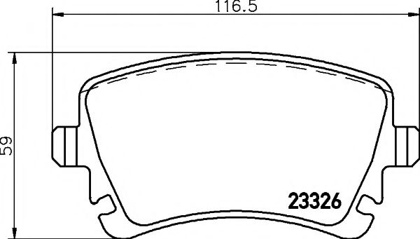 MINTEX  VW Тормозные колодки дисковые зад.PHAETON 02- MINTEX MDB2544
