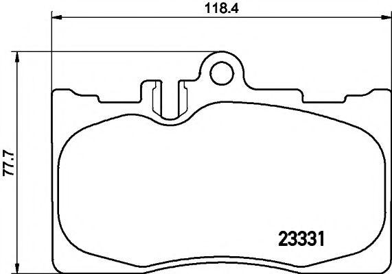 MINTEX  LEXUS Тормозные колодки дисковые передн.LS (FE) 430 2000- MINTEX MDB2135