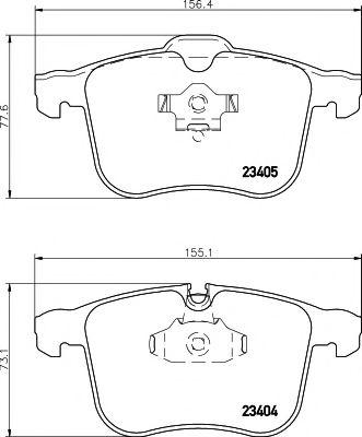 Комплект тормозных колодок, дисковый тормоз LPR арт. MDB2547