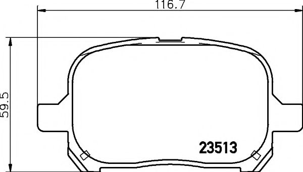 MINTEX  TOYOTA Тормозные колодки передние Camry,Previa MINTEX MDB1921