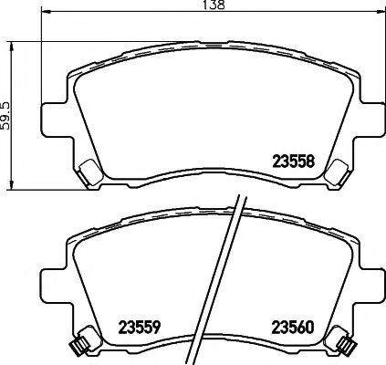 MINTEX  Тормозные колодки Subaru Forester, Impreza, Legacy 98- MINTEX MDB1794