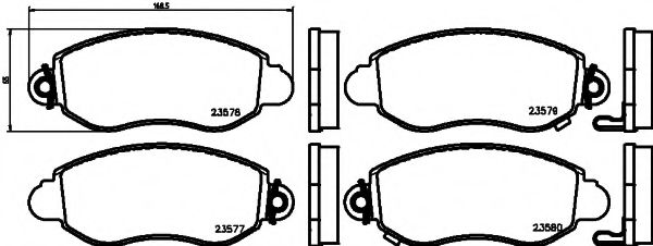 MINTEX   Тормозные колодки передние TRANSIT 00- MINTEX MDB2061