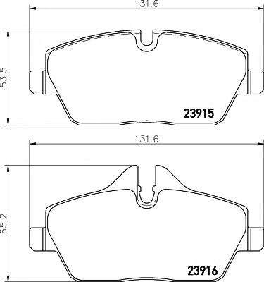 Комплект тормозных колодок, дисковый тормоз  арт. MDB2682