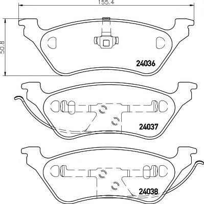 MINTEX  CHRYSLER Тормозные колодки дисковые Voyager 01- задн. MINTEX MDB2217