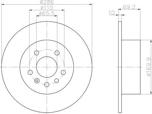 Тормозной диск  арт. MDC1045